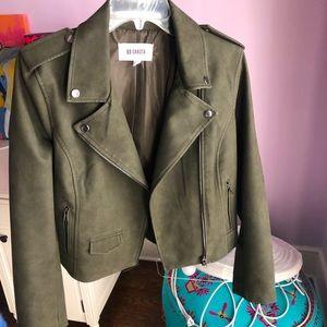 BB Dakota Green Faux Leather Jacket
